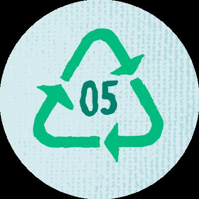 Pakkausten kierrätettävyys kuvake
