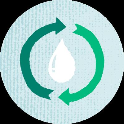 Veden kierrätys kuvake